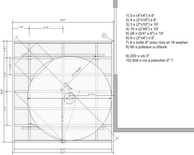 Les Plans Fournis Sur Le Site De SkyShed POD, Et Puis Mon Plan Avec La Liste  Des Matériaux